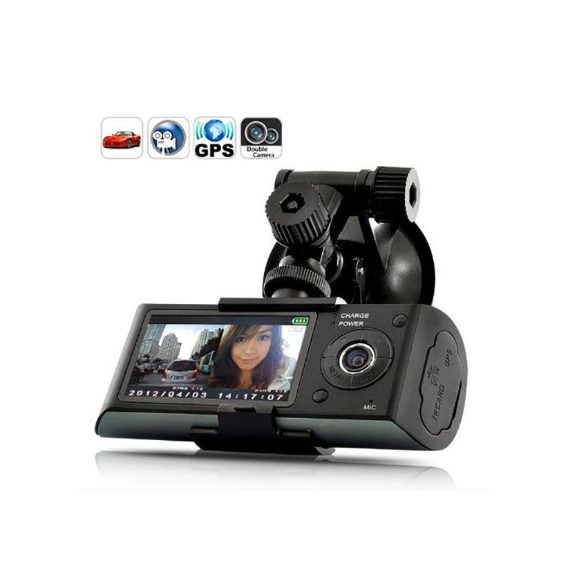 Car Camera Car Dvr GPS Dual Camera Lens Camcorder Hd 1080p Dash Cam With Rear 2