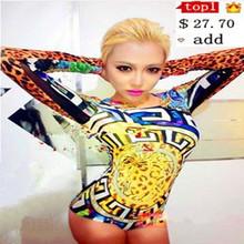 Star стиль женское певица ds стержень танцор костюм женщины dj закрутил служба цельный боди сцена шоу одежда