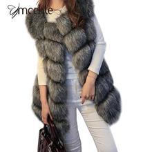 2016 winter coat women faux fox fur vest brand shitsuke fuorrure femme fur vests fashion luxury peel women's jacket gilet veste(China (Mainland))