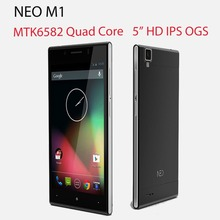 Original NEO M1 Android Mobile Phone MTK6582 Quad Core 5.0'' IPS HD 1GB RAM 8GB ROM 13MP 3G WCDMA Ultra Thin(China (Mainland))