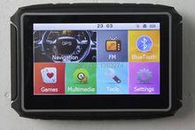 New! Free shipping! Motorcycle GPS navigator! 4.3'' waterproof!128M DDR+8gb nand flash+BT+free map of Whloe Europe countries(China (Mainland))