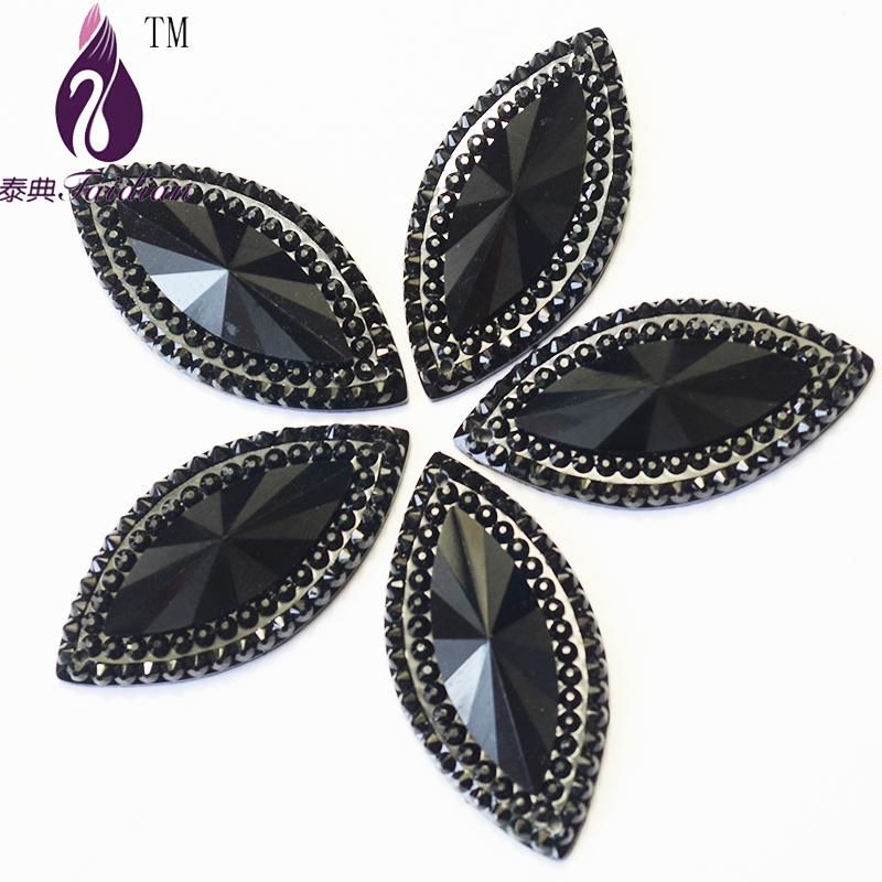 Hores Eye Cabochon ,20*40mm 2 Holes Rhinestone 50pcs/lot  Sewing Beads ,Resin Flatback rhinestone ,Sew On Stone