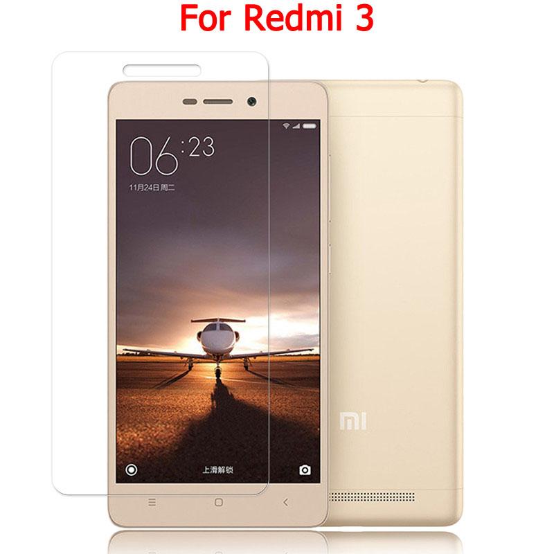 9H Tempered glass screen protector for Xiaomi Redmi 3 / Redmi 3s / Hongmi 3 Pro Clear Border 2.5D screen protective film guard(China (Mainland))