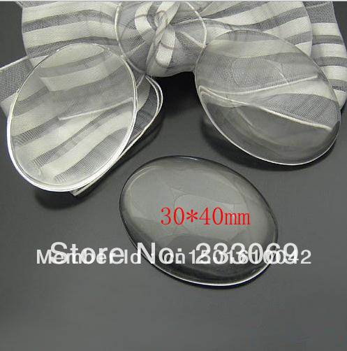 10pcs/lot Wholesale oval clear glass cabochons tray pendant cover 30*40mm Jewelry Cabochon  1699<br><br>Aliexpress