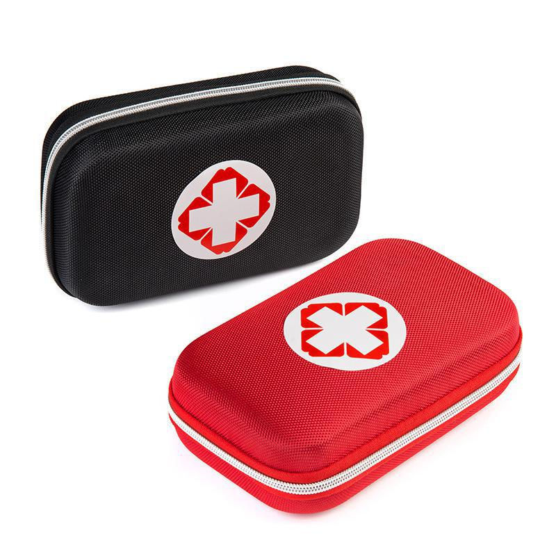 Black And Red Color First Aid Kits Portable Outdoor Survival Disaster Earthquake Emergency Bags Vehicle Mounted Medical Package(China (Mainland))