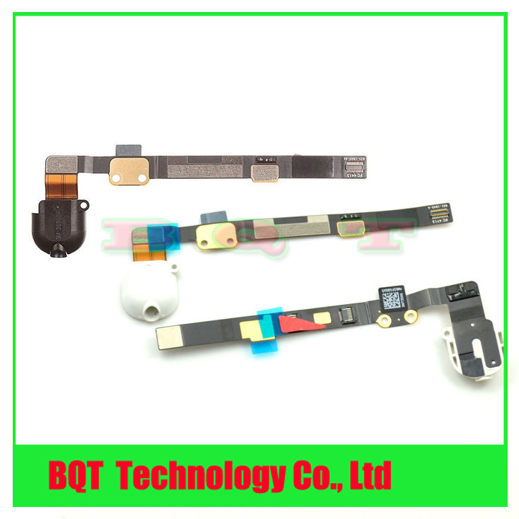 Replacement headphone audio jack flex cable For ipad mini 2 Black/white 100% Guarantee DHL Free shipping(China (Mainland))