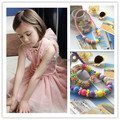 2015 infant jewelry best baby girl necklace children kid set handmade Chunky Bead necklace bracelet Photo