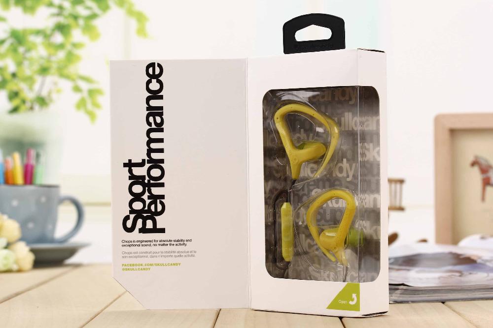Skeleton Soprt performance waterproof headset For Apple Samsung Chops2.0 Mic3+remote Buds EarHook headphone(China (Mainland))