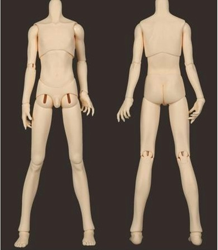 65CM Resin Big 1/3 BJD Doll Body With Double Joints Male 6 Colours(China (Mainland))