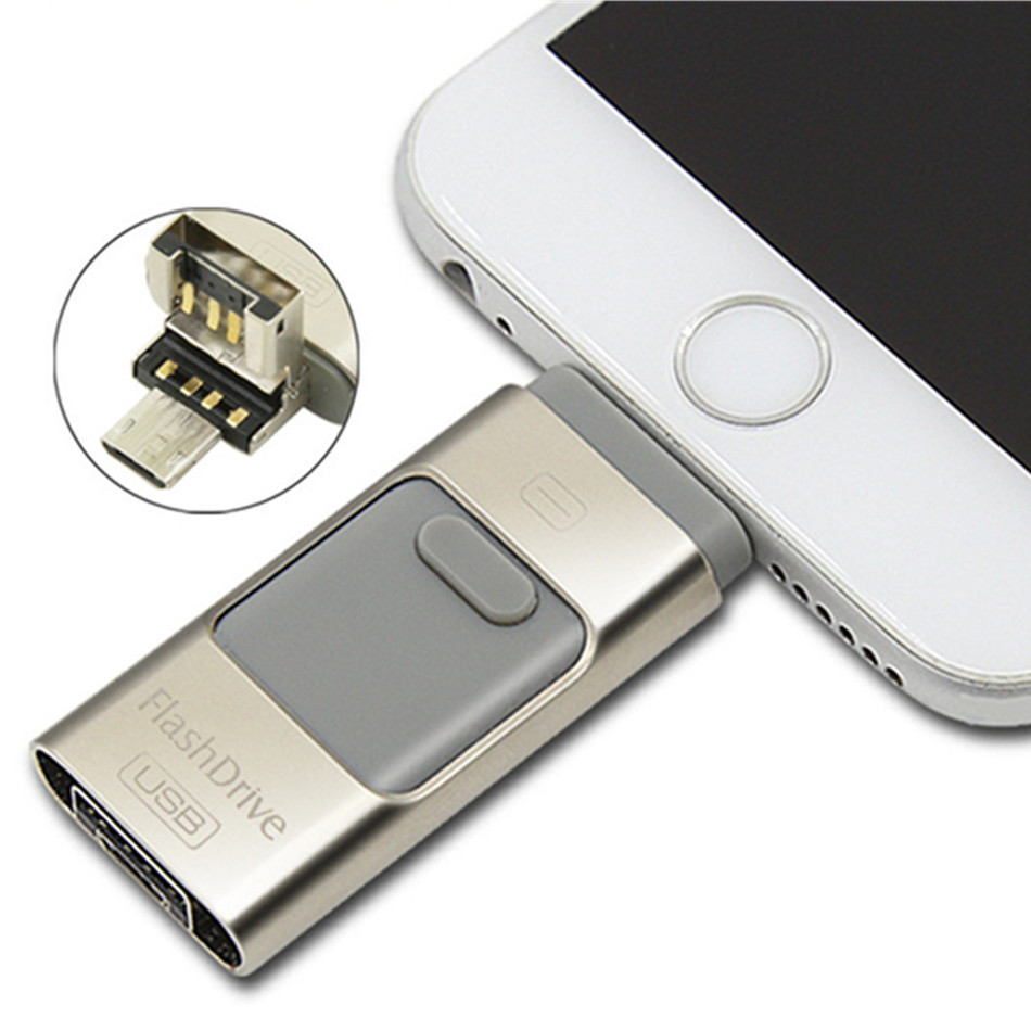OTG 32gb Generic Usb stick for Apple Iphone Ipad Phone Computer Extend SD Memory Card Flash Drive PenDrive 3 style U Disk SL45