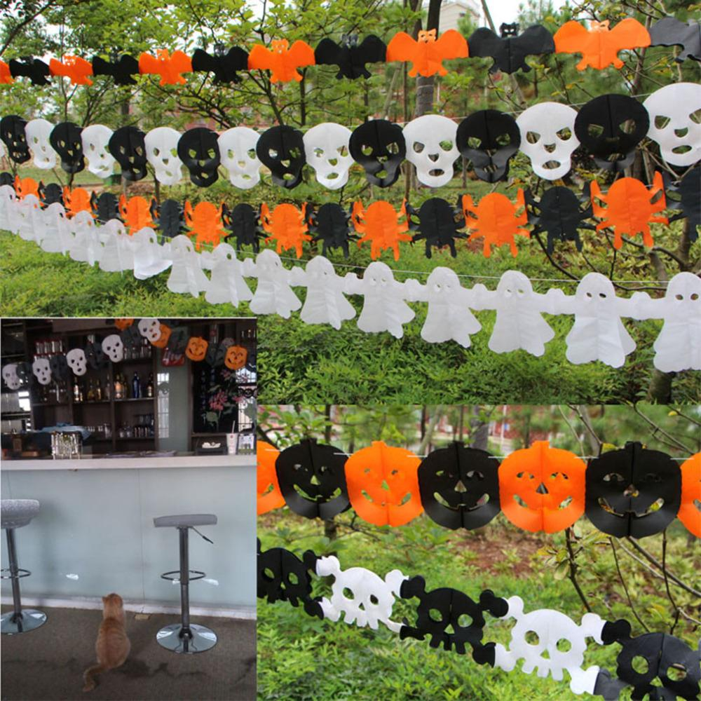 3 M Halloween Paper Garlands venue Decoration For Halloween Wreath Props new arrival(China (Mainland))