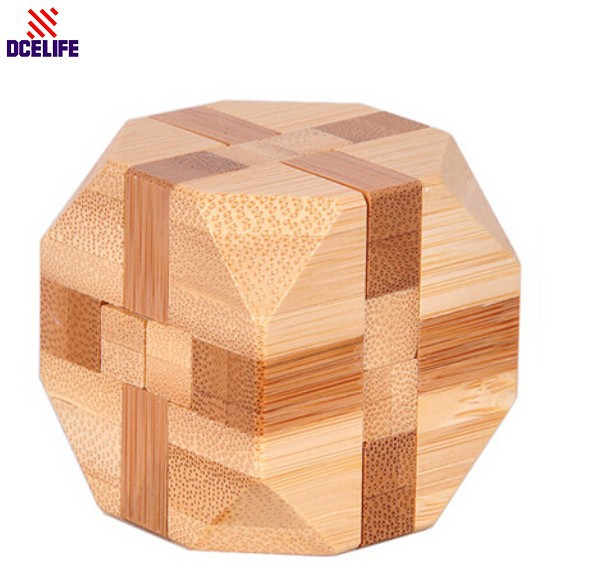Environmental Security Classical Mental Picket Dice Instructional Toy Picket Puzzle Set,Mind Teaser,Kong Ming/Luban Lock