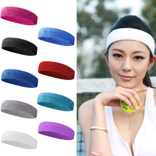 hot Sale 10 Colors Yoga Sport hair clips Headband sweatband Hair Hoop Ribbon Large Expandable Cotton Fibre(China (Mainland))