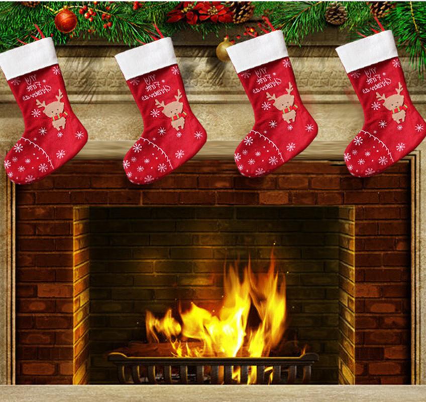 Hanging christmas stockings decoration socks