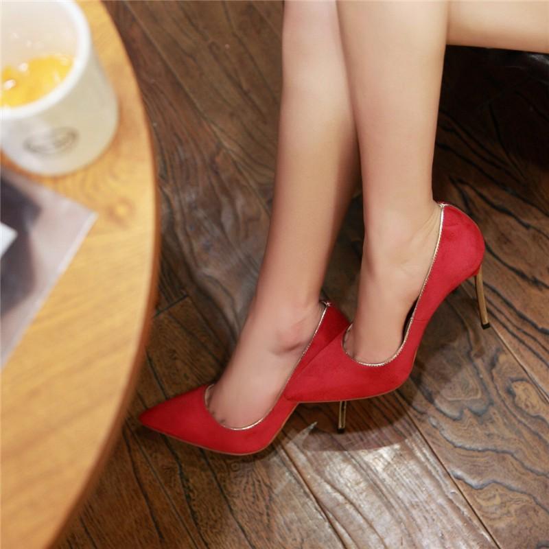 HTB1gIP5LFXXXXcTaXXXq6xXFXXXx - LOVEXSS Womens Size 10 Heels Metal Heel Stiletto Glitter Wedding Pumps Large Size 34 - 43 Black Golden Silver Heels Shoes