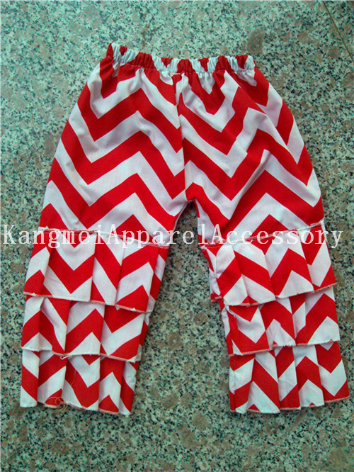 Chevron pants Posh ruffled Children pants New arrival toddler girl clothes In stock new cotton chevron pants children -48pcs/lot<br><br>Aliexpress
