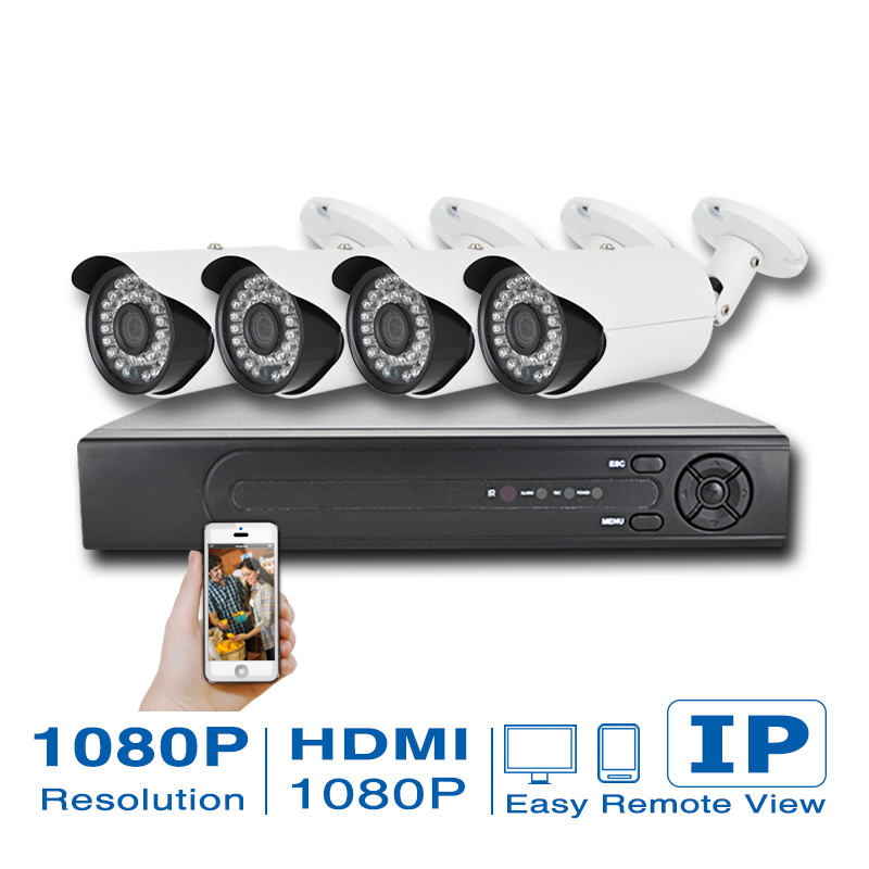 4Ch CCTV System 4 channel HDMI Network POE NVR Kit 1080p full hd IR Waterproof 2mp CCTV Camera Security Surveillance Kit System(China (Mainland))
