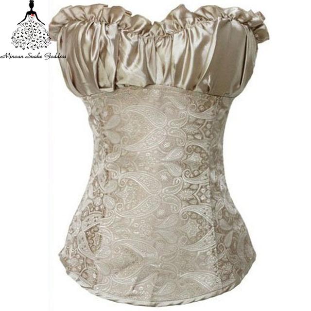 Корсетные 2016 Большой размер пижамы корсет топы бюстье белье на бюст платья талия ...