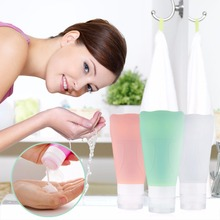 Soft Silicone Empty Bottle Shampoo Leakproof Containers With Sunction Cap worldwide store(China (Mainland))