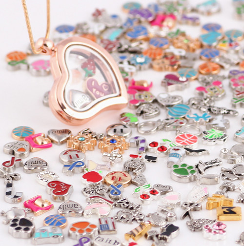 Free shipping Fashion Necklaces &amp; Pendants Accessories mix floating charms<br><br>Aliexpress