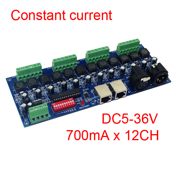 700ma constant current 12CH dmx dimmer ,12 channel dmx 512 controller,drive ,LED DMX512 decoder  for LED Wall washer lamp<br><br>Aliexpress