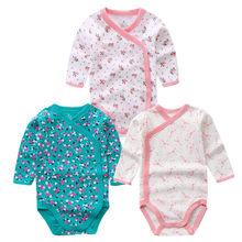 Sorrindo Babe 3 pçs/lote Moda Bodysuits Do Bebê Macacão Infantil Manga Longa Conjunto de Roupas de Verão Da Menina Do Bebê Roupas de Natal Do Bebê(China)