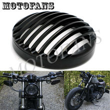 Black Anodized Headlight Grill Cover For Harley Sportster XL883 XL1200 2004 2005 2006 2007 2008 2009 2010 2011 2012 2013 2014