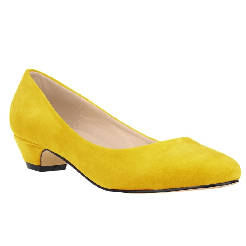 2016 Large Size 35-42 Yellow Sexy High Heels Women Pumps Ladies Office Shoes Woman Chaussure Femme Zapatos Mujer sapato feminino<br><br>Aliexpress