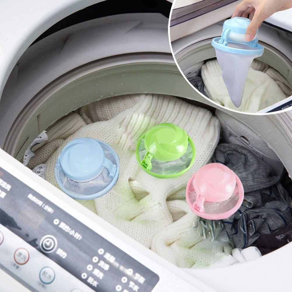 1pcs Home Washing Machine Laundry Supplies Floating Lint Mesh Pouch Filter MA