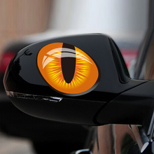 12*10cm 1Pair Cute Simulation Cat Eyes Car Stickers 3D Vinyl Decals on Cars Head Engine Cover Rearview Mirror Windows Decoration(China (Mainland))