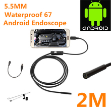 5.5mm 2 Meters Focus Camera Lens USB Cable Waterproof 6 LED Android Endoscope 1/9″ CMOS Mini USB Endoscope Inspection Camera