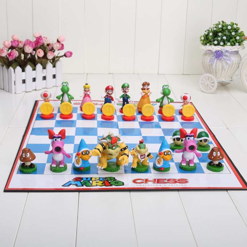 5set 32pcs/set hot Super Mario Bros Chess PVC Action Figures Toys high quality(China (Mainland))
