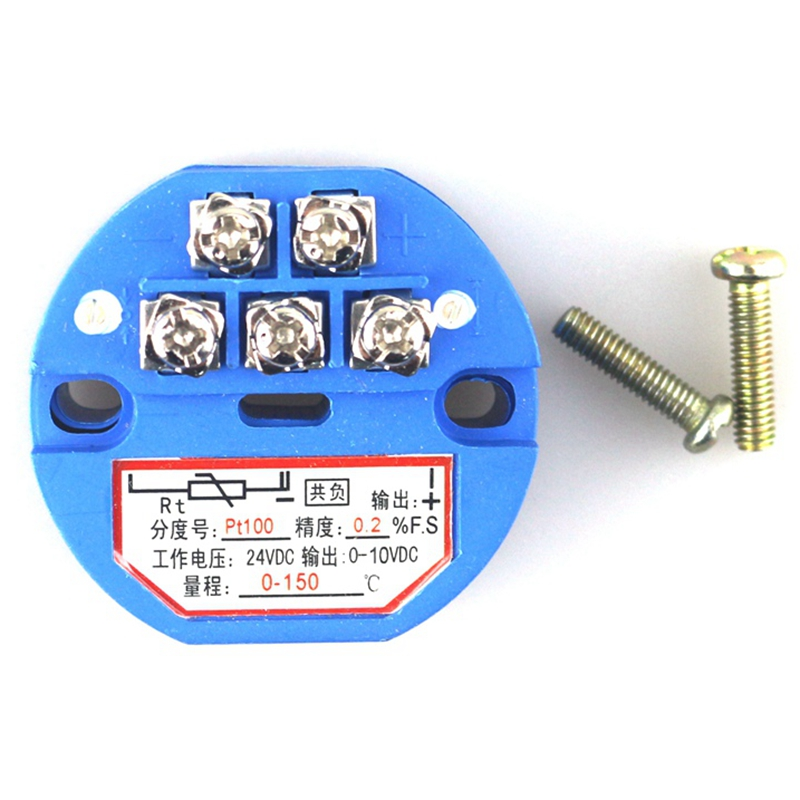 4-20mA 0-5V 0-10V High Accuracy Stable Plastic Temperature Transmitter Module PT100 Thermocouple(China (Mainland))