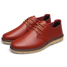 Discount sale men oxfords pointed toe casual genuine leather shoes men brogues shoes business shoes plus size 39-47