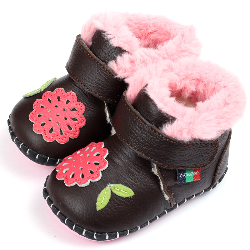 Leather Baby Boots For Girl Super Keep Warm Winter Baby Boots Soft Baby Shoes Infant Baby Girls Boys First Walkers Shoes(China (Mainland))