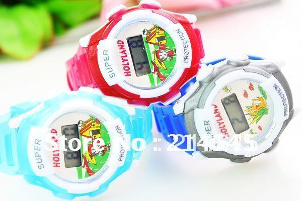 W11 easy to use  for cute children with electronic watch as gift/50pcs/lot Free Shipping
