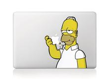 Laptop aufkleber Simpson vinyl-aufkleber laptop aufkleber für apple macbook pro luft 13 11 15 zoll simpsons laptop haut(China (Mainland))