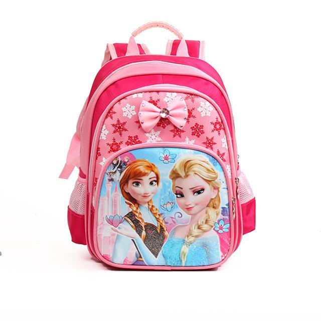 Принцесса эльза анна водонепроницаемый печать школьные сумки виолетта рюкзак ортопедические ...