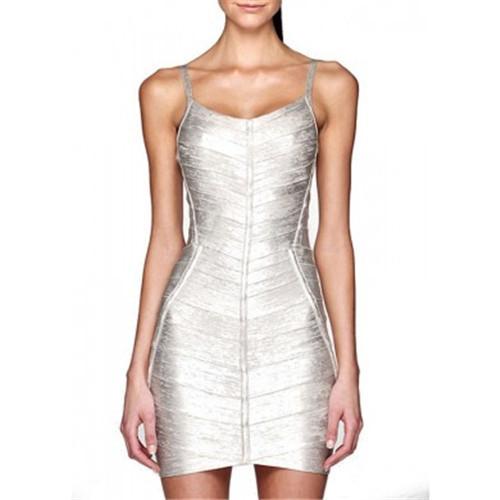 DHL Free Shipping Silver Metallic Strap Bandage Dress 17 Strap Silver Summer(China (Mainland))