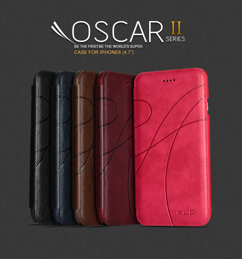 KALAIDENG Brand Oscar II Series Flip PU Leather Card Case For Apple iPhone 6 4.7 iPhone6 Folio Book Phone Bag Cover