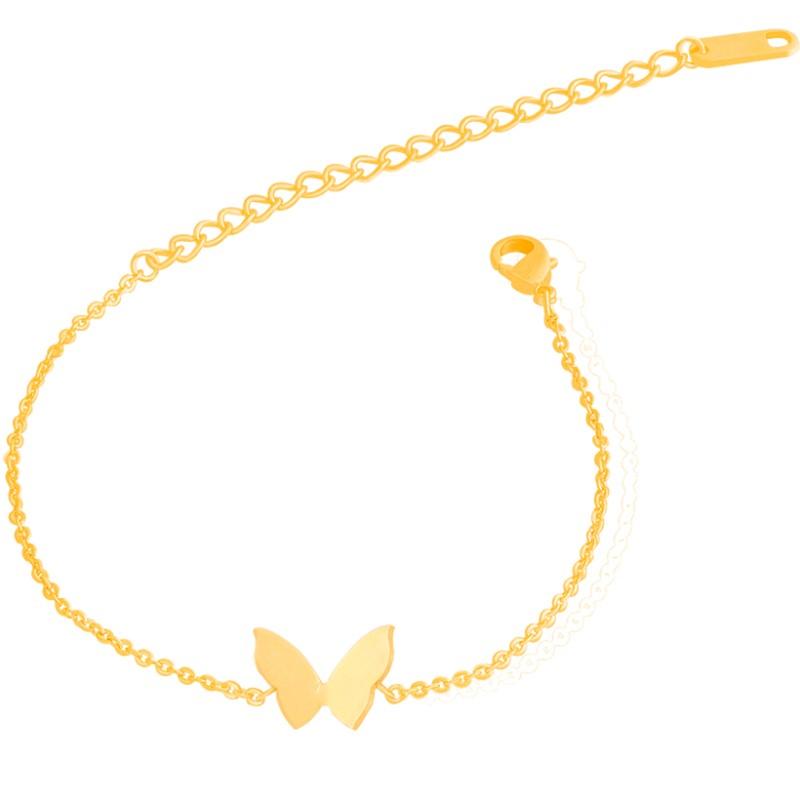 Macrame Bracelet for Women 2016 Friendship Gift Tattoo Stainless Steel Chain Boho Butterfly Charm Bracelet Nature Jewelry B015S(China (Mainland))