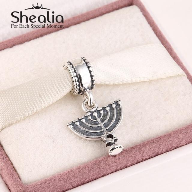 925 чистое серебро менора мотаться подвески-талисманы античное серебро подвески подвески для женщины подходит своими руками браслеты Er481