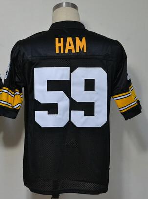 Pittsburgh Throwback Football Jersey Size M L XL XXL XXXL 59 Jack Ham Jersey Retro Authentic Throwback Cheap Stitched Logos(China (Mainland))