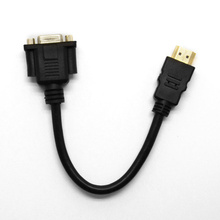 1080P HDMI Male To VGA pins Female Video AV Adapter Cable For HDTV set-topit PC Free shipping
