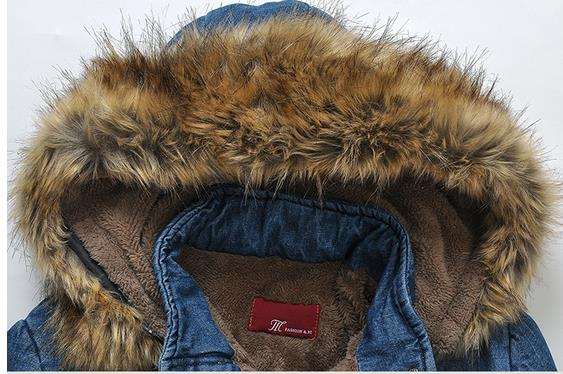 Winter Cotton Padded Thick Lamb Wool Hooded Long Womens Jacket Warm Winter Clothes