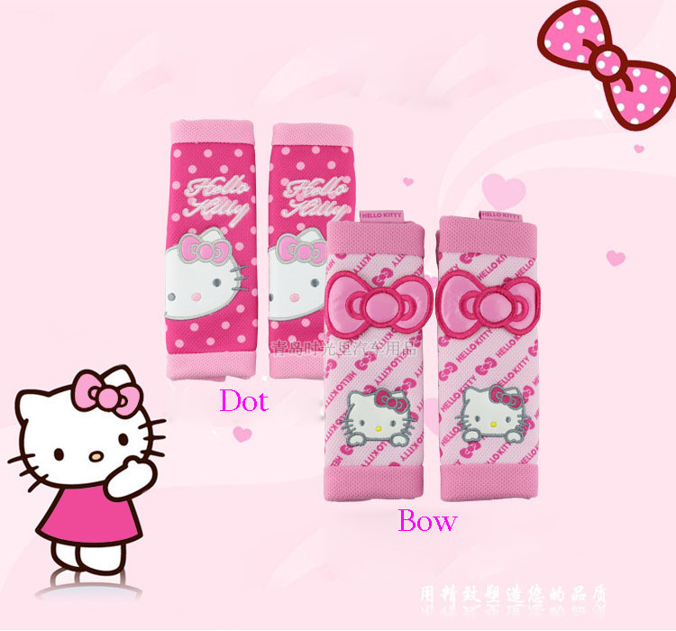 Hello kitty car accessories1 pair comfortable car safety seat belt shoulder pad cover cushion harness pad child restraints<br><br>Aliexpress
