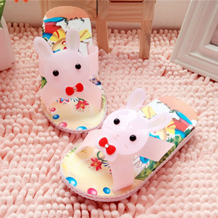 2015 new hot sale Summer child slippers indoor slippers bathroom cartoon rabbit soft slip-resistant outsole(China (Mainland))