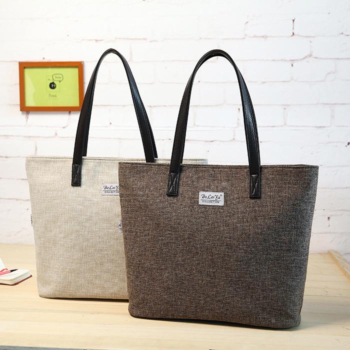 HOT sale 2015 New Trend Handbags Women Canvas bag simple Fashion shoulder bag Ladies Canvas cotton tote purses free shipping(China (Mainland))