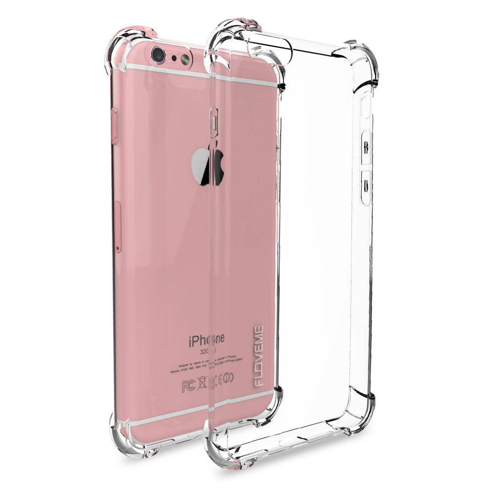 FLOVEME Phone Cases for Apple iPhone 6 6s Case Crystal Clear Soft TPU Silicone Gel Funda for iPhone 6 plus / 6s plus Coque Capa(China (Mainland))
