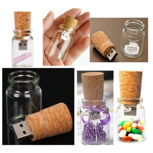 free shipping factory directly selling promotional gifts 2gb 4gb 8gb wood glass bottle pen drive bulk usb stick 1gb cheap(China (Mainland))